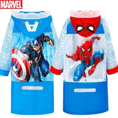 迪士尼(DISNEY)儿童雨衣雨披男童蜘蛛侠带书包位加厚卡通幼儿园小学生雨衣 VF86393-S蜘蛛侠 XL