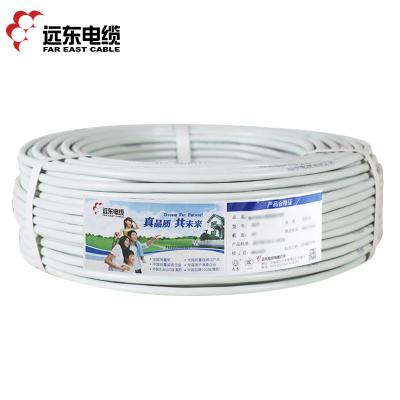 幫客材配【優質產品,庫存緊張,請聯系在線客服】遠東電線電纜RVV3*6平方國標3芯軟護套銅芯電線100米 白色
