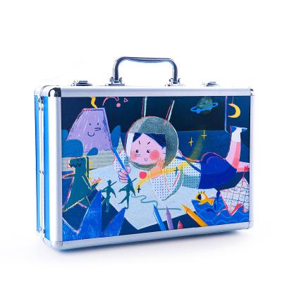 Joan Miro 美樂童年 兒童藝術盒子繪畫套裝蠟筆水彩筆畫畫禮盒玩具兒童畫筆套裝男孩女孩禮盒 男孩款