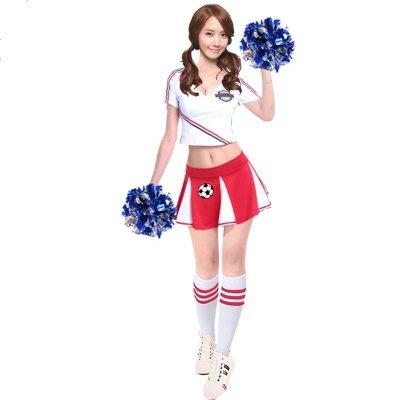 啦啦队服装女成人学生足球宝贝演出服啦啦操舞蹈青春表演套装