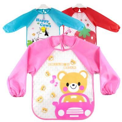 【3條裝】寶寶吃飯罩衣嬰兒防水反穿衣兒童長袖畫畫圍裙圍兜吃飯衣秋冬新款
