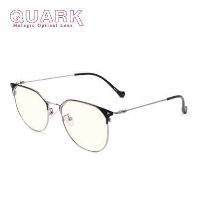 美国夸克(QuarK)防蓝光眼镜黑色素新品防辐射超轻金属眉线框黑金配色电脑手机男女日夜程序员护目镜9669