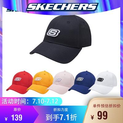 【黑色】Skechers斯凱奇橫沖直撞明星同款男女同款運動休閑棒球帽L319U045