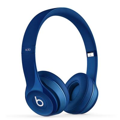 【二手9成新】beats solo2頭戴式重低音魔音耳麥 帶麥線控通話 無線藍牙耳機 深藍色