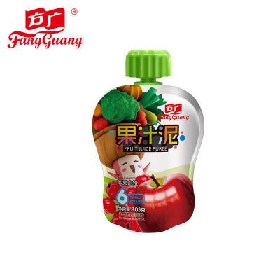 方广 宝宝辅食 苹果山楂果汁泥103g/袋装 (6个月以上婴幼儿适用)吸吸乐袋水果泥 果泥