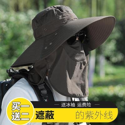 遮陽帽男夏季釣魚帽戶外防曬帽子夏天防紫外線漁夫帽登山太陽帽