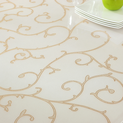 幸福派 軟質玻璃桌布餐桌墊隔熱免洗花紋軟玻璃透明磨砂加厚方圓防水防燙水晶板簡約現代60cm*60cm