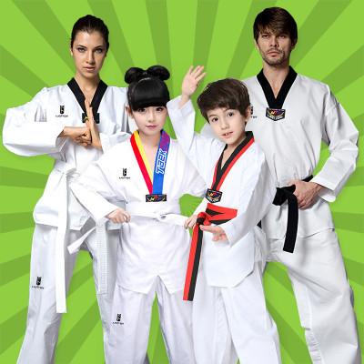 跆拳道服闪电客成人儿童纯棉长袖短袖男女跆拳道服装初学者训练服