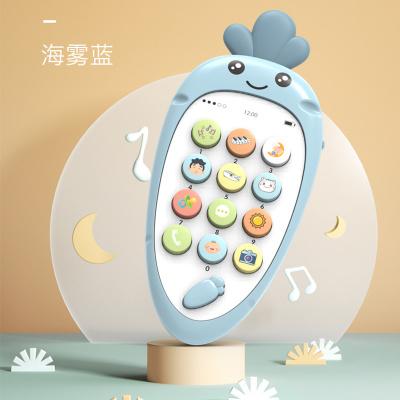 益智早教玩具啟蒙嬰幼兒早教機音樂手機玩具--蘿卜手機(藍色)