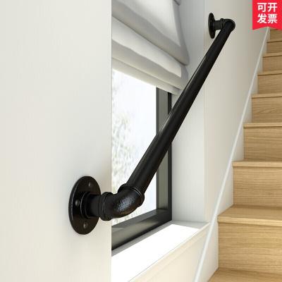 工業風鐵藝樓梯扶手水管家用室閣樓靠墻老人防滑幼兒園拉手歐式