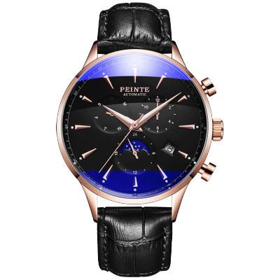 佩恩特(PEINTE)手表男机械表多功能自动男士手表时尚防水夜光潮流运动男表 PE7116G