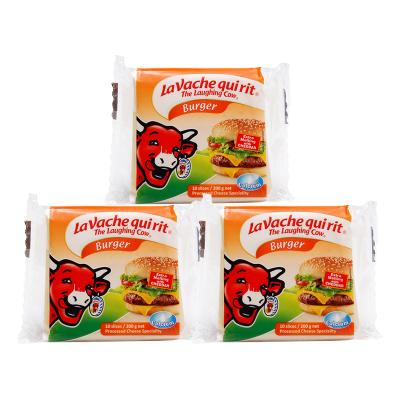 乐芝牛奶酪芝士 早餐搭配原装进口再制干酪 汉堡车达切片奶酪200g*3袋
