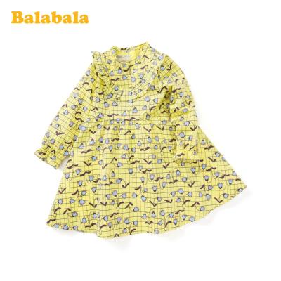 【1件5折】巴拉巴拉童装女童公主裙春季2020新款小童宝宝连衣裙洋气儿童裙子