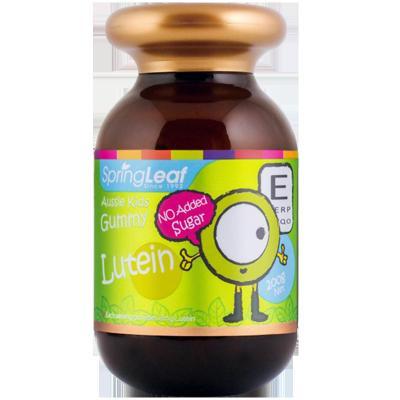 澳洲原裝進口SpringLeaf綠芙葉黃素胡蘿卜素兒童護眼保健舒緩視疲勞改善兒童近視弱視軟糖200g/瓶