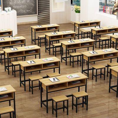 鑫辦公 定制 學校課桌椅中小學生雙層課桌輔導班培訓桌補習班帶抽屜課桌椅直銷
