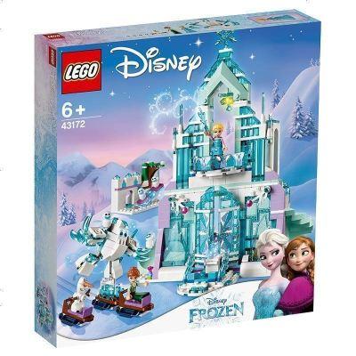 LEGO樂高 迪士尼系列 43172 艾莎的魔法冰雪城堡 小顆粒拼插積木玩具
