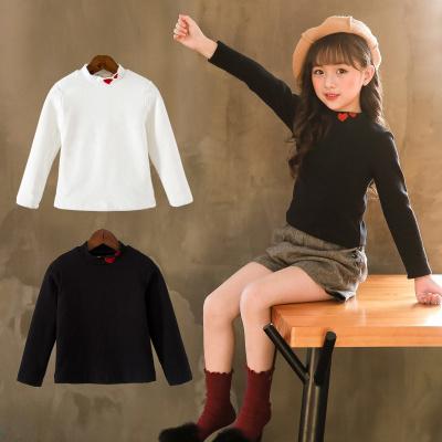 女童打底衫春秋季新款中大儿童冬季高领上衣洋气加绒薄款长袖T恤威珺