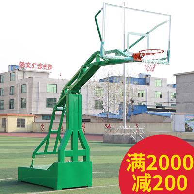 戶外移動籃球架框古達標準成人移動籃球架室外學校家用比賽
