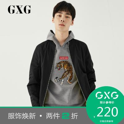【兩件2折價:220】GXG男裝 冬季時尚潮流休閑黑色棉服#GA107199G