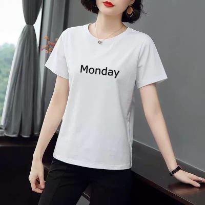 棉 2020夏季短袖T恤女白色韓版新款大碼寬松百搭半袖上衣體恤潮莎丞(SHACHEN)