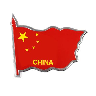 ZHUAX中國國旗車貼五星紅旗3d立體金屬油箱蓋尾標車身裝飾貼汽車貼紙車門車尾摩托車電瓶車電動車創意個性劃痕遮擋鋁貼紅色
