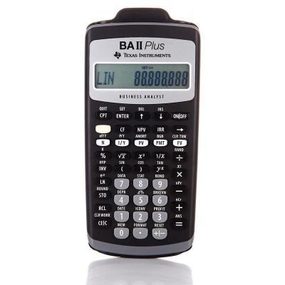德州仪器TI BAII plus金融计算器BA II PLUS CFA适用考试计算机
