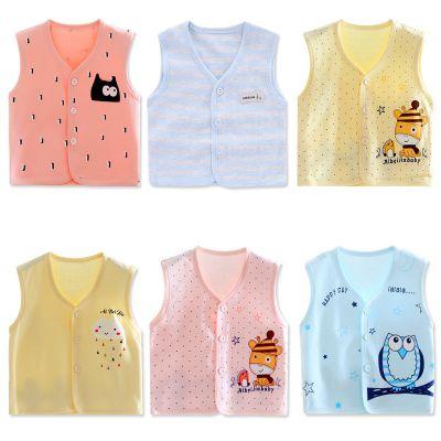 寶寶單層馬甲新生兒純棉防涼背心嬰兒薄款夏季兒童棉馬夾開衫坎肩 娜蜜雨(NAMIYU)