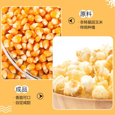 【預售】網紅 自制家庭爆米花原料包(10份)爆米花專用玉米豆+糖+油品 一周發貨