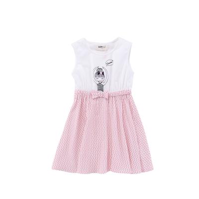 Жижиг улаан буурцагны хүүхдийн хувцас худалдааны төв нь ижил хэмжээтэй охидын зуны хувцаслалт, pleated юбка оёдог гадаад банзал GXQ533KB3 150cm ягаан