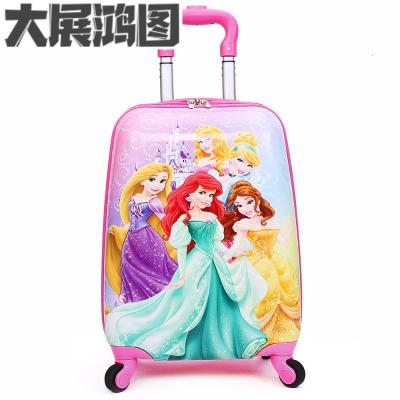 儿童拉杆箱行李箱1618寸定制可爱卡通四轮拖箱男女宝学生旅行箱 红色18寸五美女 默认尺寸