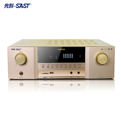 先科(SAST) AV-988家庭影院功放機5.1聲道大功率4K高清ARC回傳光纖同軸多聲道帶藍牙家用音響功放