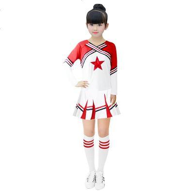 足球宝贝服装演出服校园运功会服装男女啦啦操服装健美操现代舞