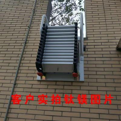 壁挂式阁楼伸缩楼梯家用复式升降室内外折叠拉伸全自电动定制 壁挂冷轧钢垂直高2.5~2.6米左右