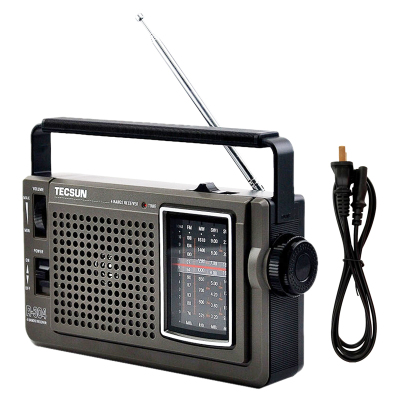 赠【2节1号电池】德生收音机 R-304P灰老年人便携台式 指针收音机交直流两用操作简单家用台式声音洪亮