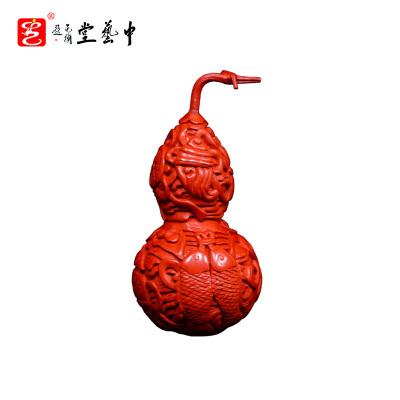 中藝盛嘉杨之新雕漆中式古典家居摆件雕漆八宝葫芦中藝堂收藏品开业送礼