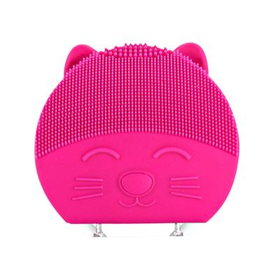 极库 电动洁面仪洗脸神器清洁硅胶洗脸仪洁面仪SN-06玫红色