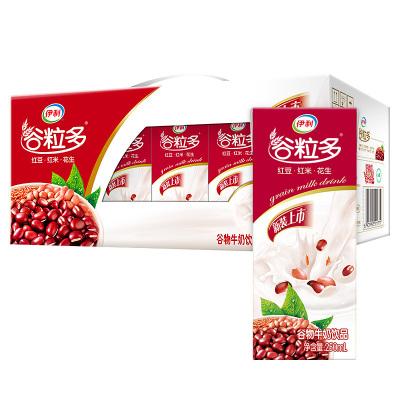 伊利 谷粒多 谷物牛奶饮品 红谷牛奶 粗粮牛奶 12*250ml