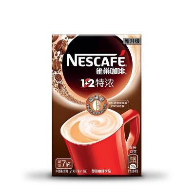 雀巢(Nestle)1+2 特濃咖啡 7條91g盒裝 速溶咖啡