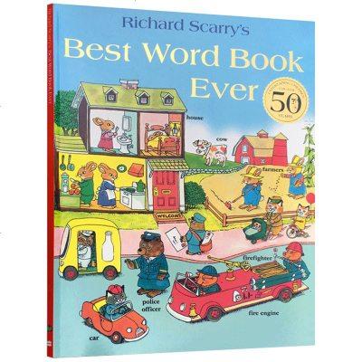 华研原版儿童英文绘本 斯凯瑞词汇书 Best Word Book Ever 会讲故事的单词书 英文版原版 斯凯瑞金色