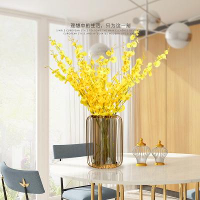 美式轻奢家居装饰摆件客厅电视柜餐桌茶几插花干花玻璃大号花瓶