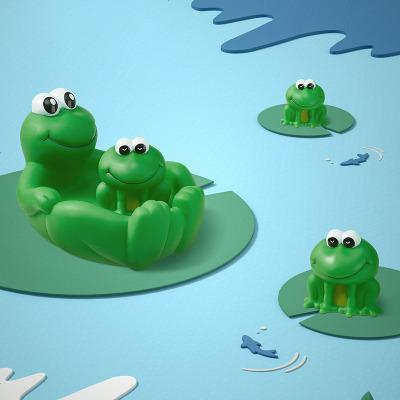 babycare宝宝洗澡玩具小鸭鸭男女孩捏捏叫婴儿戏水游泳 小青蛙玩具