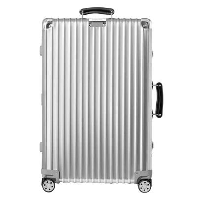 【德國直郵】RIMOWA日默瓦 德國直郵登機箱萬向輪拉桿箱旅行箱CLASSIC復古系列銀色 鋁鎂合金金屬材質