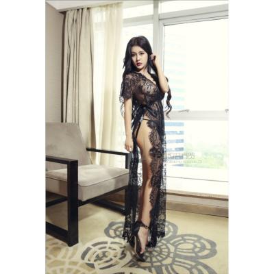黑色 均碼(80-110)斤 蕾絲情趣內衣大碼胖mm騷性感睡衣透視情趣睡裙挑逗超薄全裸誘惑