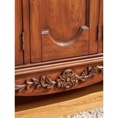 顾致欧式实木鞋柜别墅玄关柜中式美式入户大容量家用进口木质制