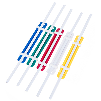 得力(deli) 打孔器文件夾裝訂手動二孔打孔機雙孔活頁紙張打洞辦公文具 塑料裝訂夾/50套 5548