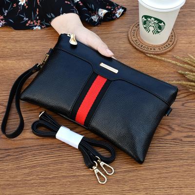 桂蘭珊(Guilanshan) 2020新款撞色條紋單肩斜挎包歐美時尚手拿包女士氣質手機包大容量