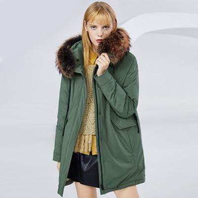 BOSIDENG брэндийн өвлийн эмэгтэй зузаан куртка B80141130 170/92A ногоон4201