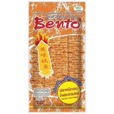 泰國進口特產 BENTO拌多樂泰式香辣味魷魚片20G 手撕魷魚片辣條零食