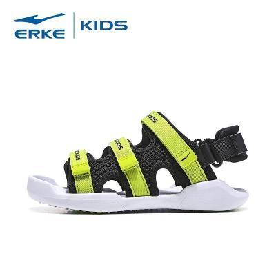 鴻星爾克(ERKE)童鞋中大童 新款男童戶外魔術貼涼鞋透氣 沙灘鞋