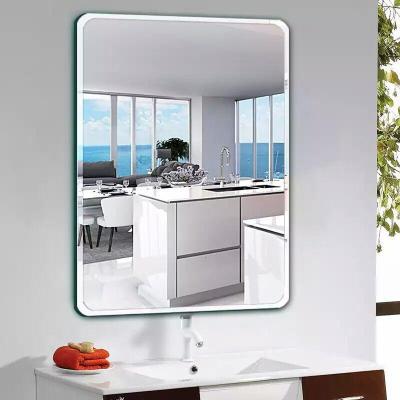 防暴浴室衛生間鏡子壁掛貼墻免打孔化妝鏡衛浴鏡洗手間廁所黏貼鏡